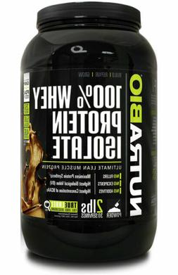 NutraBio 100% Whey Protein Isolate For Supporting Muscle Gro
