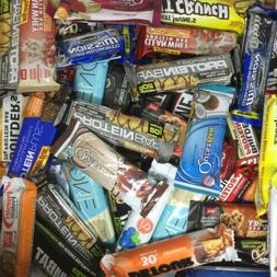 45 Assorted Brand 20 - 32g PROTEIN BARS Supreme Quest MET-Rx