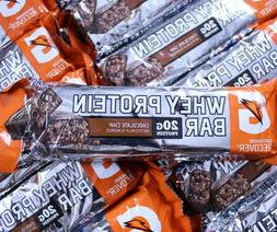 60 Gatorade Whey Protein Bars Chocolate Chip Muscle Recovery