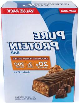 Pure Protein Bars, Healthy Low Carb Snacks, Chocolate Peanut