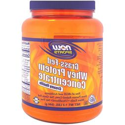 Now Foods Grass-Fed Whey Protein Concentrate,  1.2 lbs  CREA