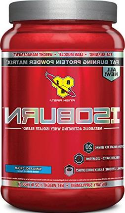 BSN ISOBURN, Lean Whey Protein Powder, Fat Burner for Weight