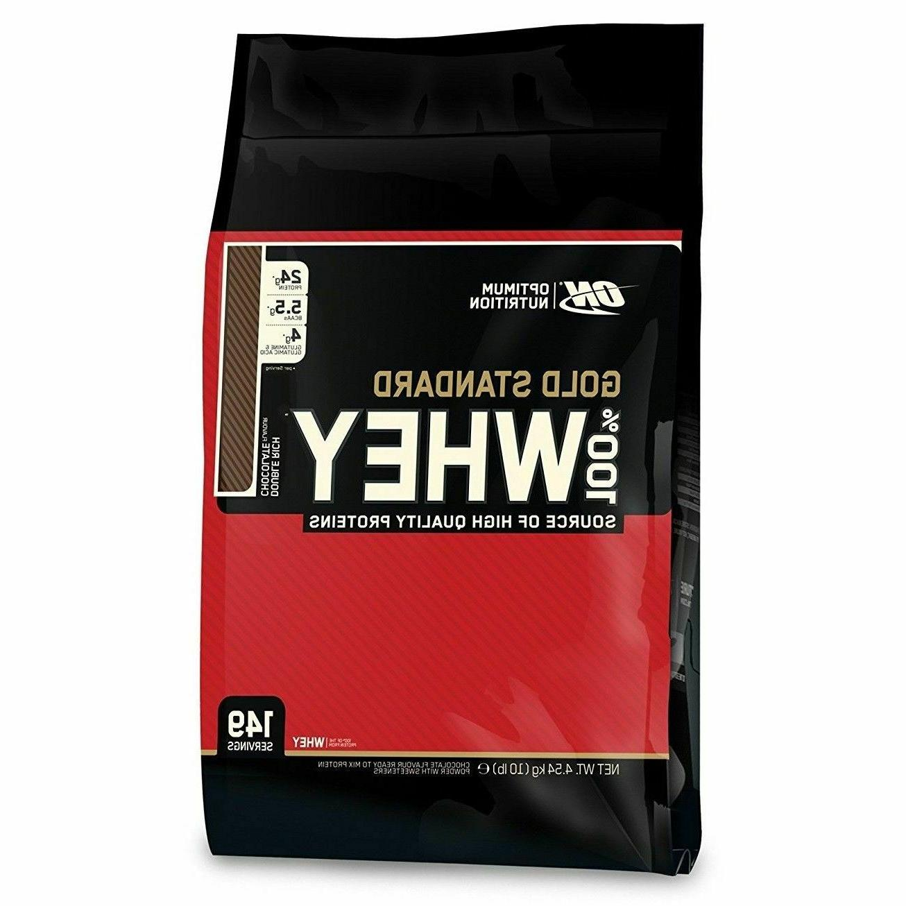 Optimum Nutrition 100% Gold Standard WHEY PROTEIN 10 lbs