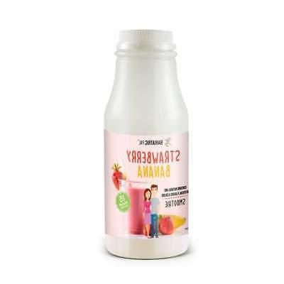 15g protein fruit drink strawberry banana smoothie