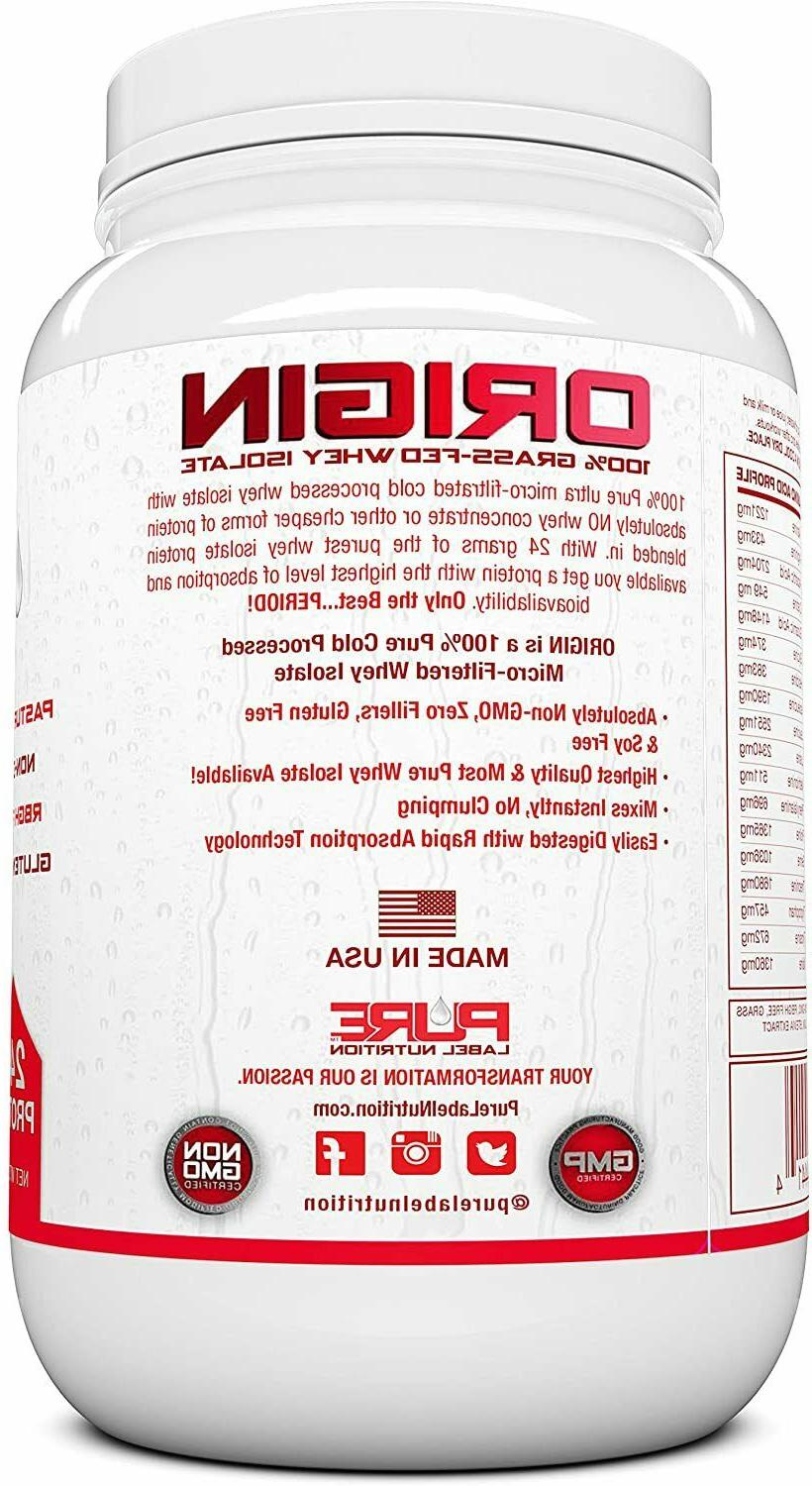 Chocolate Whey Protein Keto, 100% Natural Grass Fed Protein