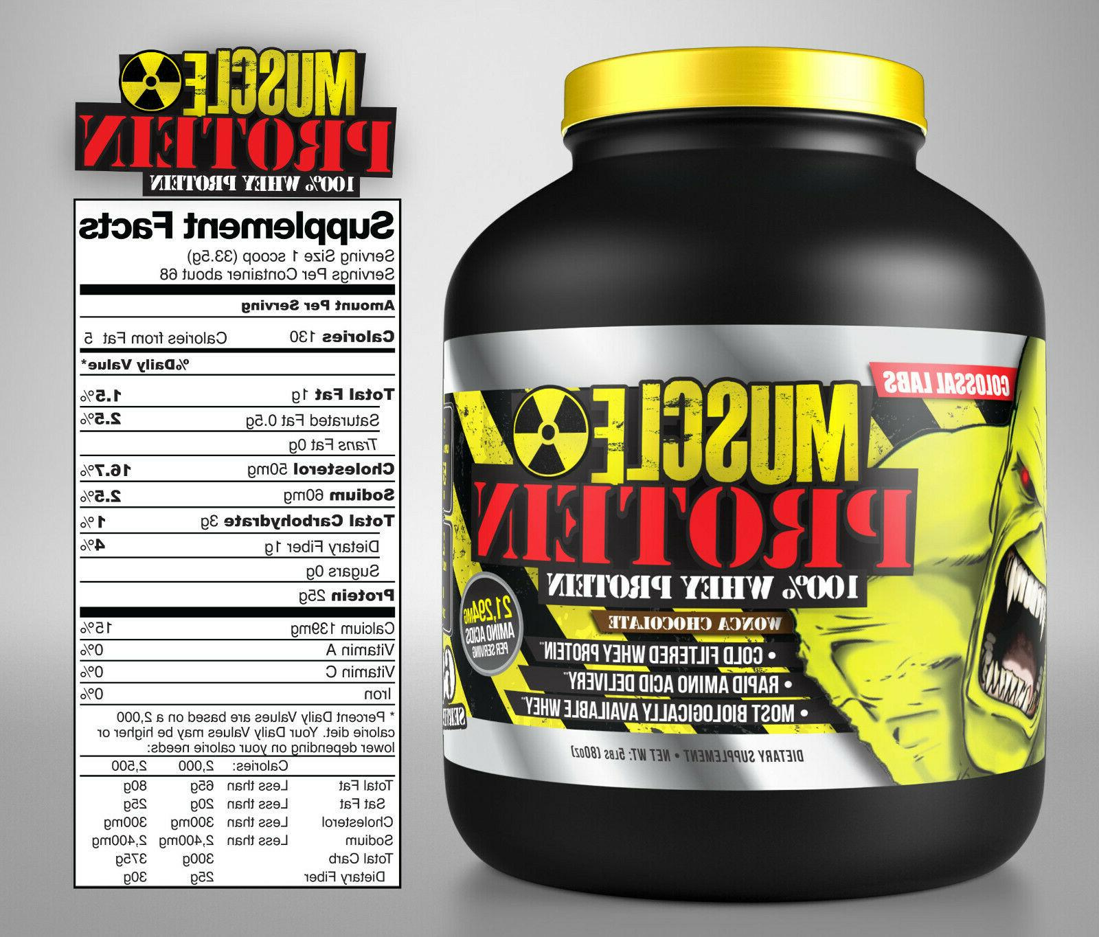 colossal labs whey protein powder 10lb monster