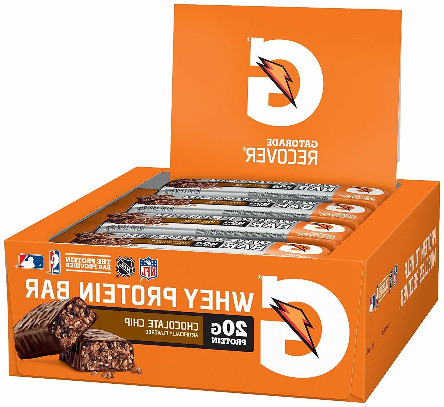 whey protein recovery recover bars 12 pack