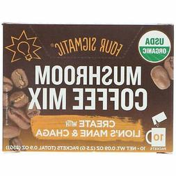 Four Sigmatic Mushroom Coffee Mix 10 Packets 0 09 oz 2 5 g E