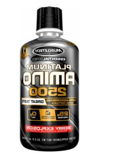 MuscleTech Platinum Amino 2500 Muscle Growth and Recovery Wh