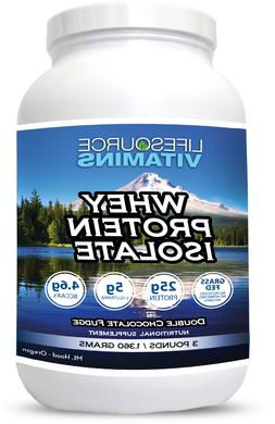 LifeSource Vitamins Whey Protein ISOLATE Grass Fed Double Ch