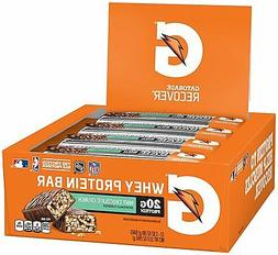 Gatorade Whey Protein Recover Bars 2.8 oz, 12 Count FREE Shi
