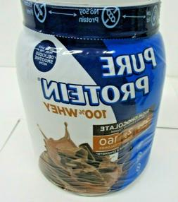 Pure Protein 100% Whey Protein Shake Powder, Rich Chocolate,